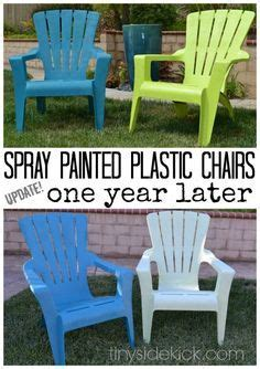 1000 ideas about painting plastic chairs on