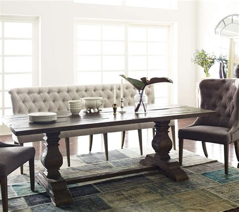 Kitchen Tables With Bench Seating by Tufted Upholstered Dining Bench Banquette Zin Home
