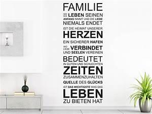 Wandtattoo Sprüche Familie : wandtattoo familie von klebeheld de ~ Frokenaadalensverden.com Haus und Dekorationen