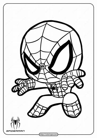 Spiderman Coloring Spider Printable Aranha Homem Clipart