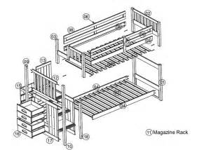 bunk bed plans twin over full with stairs pdf plans fine