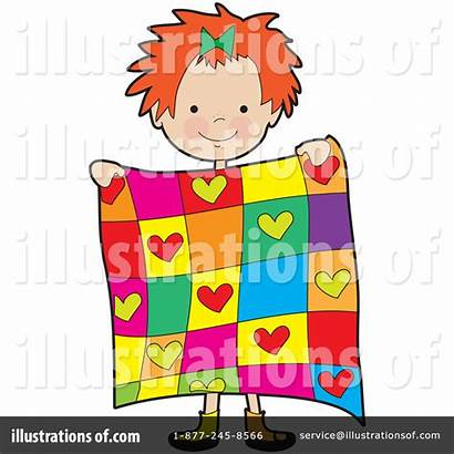 Quilt Clipart Clip Quilting Illustration Blankets Bell