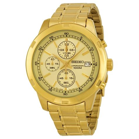 Seiko Chronograph Gold Dial Goldtone Men's Watch Sks426. Nice Watches. Brazilian Emerald. Emerald And Diamond Eternity Band. Hammered Bangles. Sugilite Pendant. Marquise Anniversary Band. Green Jade Earrings. Kwiat Rings