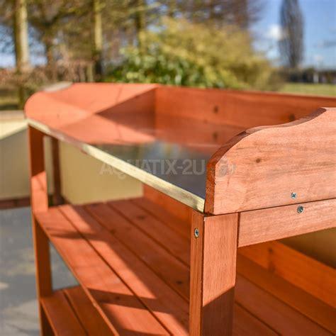 tier wooden garden potting bench