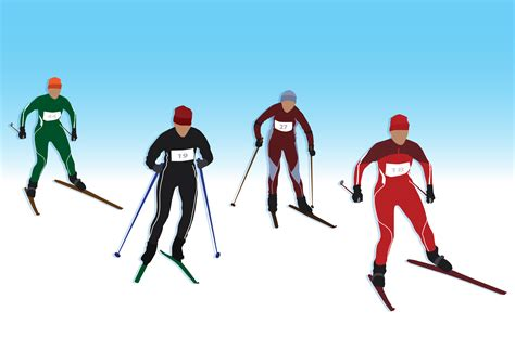 Clipart - Cross-Country Skiing