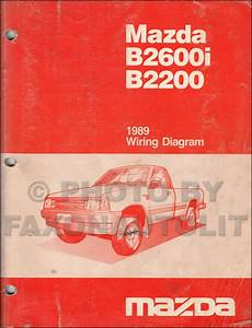1989 Mazda B2600i B2200 Pickup Truck Wiring Diagram Manual