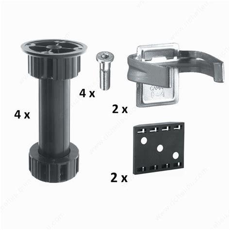 titus cabinet leg levelers cabinet levelers kit richelieu hardware