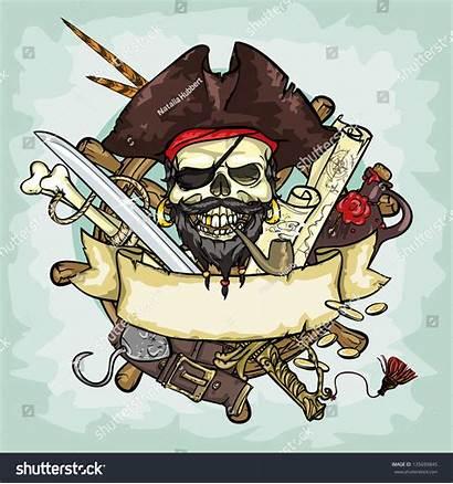 Pirate Skull Vector Shutterstock Illustrations Drawn Text