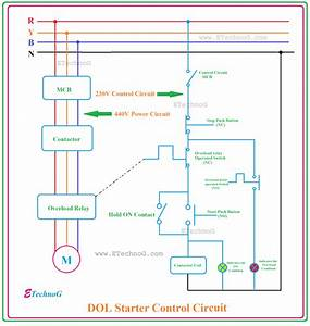 Control Wiring Diagram Of Dol Starter