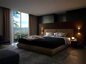3d, Modern, Bedroom, Design, Interior