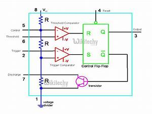 555 Timer Led Flasher - Block Diagram Of Ic 555 Timer