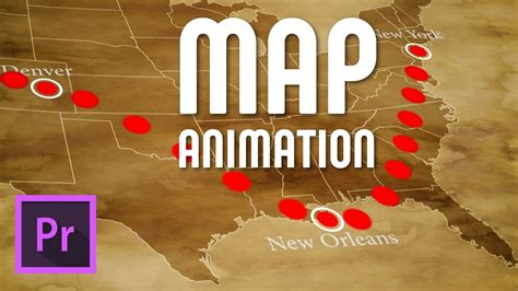 draw  animated travel   map premiere pro