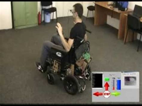 electric wheelchair controlled  eye movements youtube