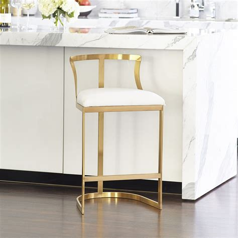 Modern Kitchen Bar Counter Stools For Sale by Emerson Counter Stool Brass In 2019 Seating Chaise