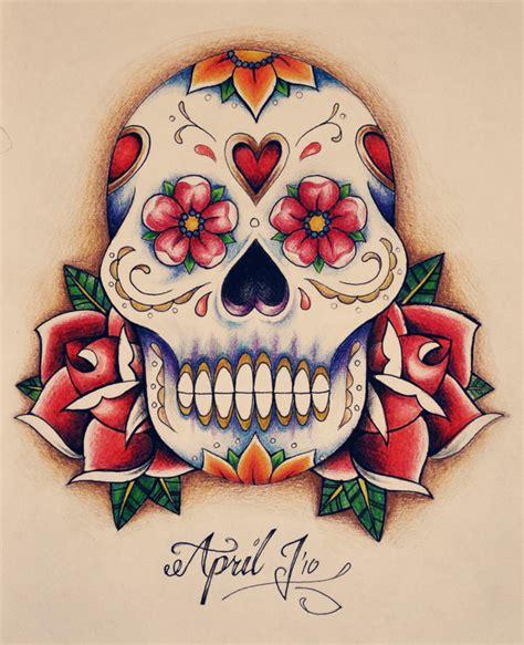 mexican skull tattoo designs skulls  roses flowers tattoo