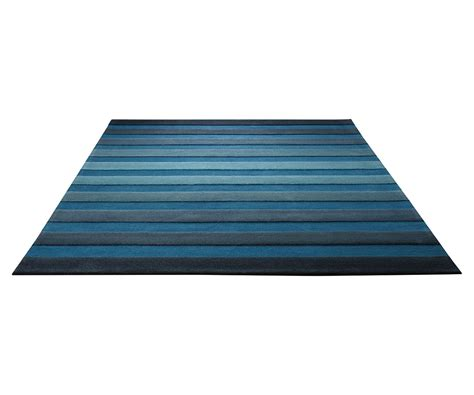 tapis de salon bleu cross walk par esprit home