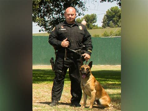 California Police Officers Honor K9 Killed In The Line Of