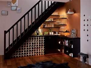 Meuble Sous Escalier Leroy Merlin : comment r aliser un bar cocktail sous votre escalier ~ Dailycaller-alerts.com Idées de Décoration