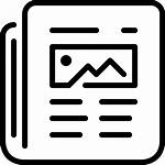 Newspaper Newsfeed Icon Read Relax Feed Features