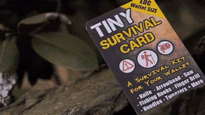 Survival Tiny Guide Kit Emergency Card Gig