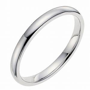 18ct white gold 2mm wedding ring ernest jones With images of white gold wedding rings