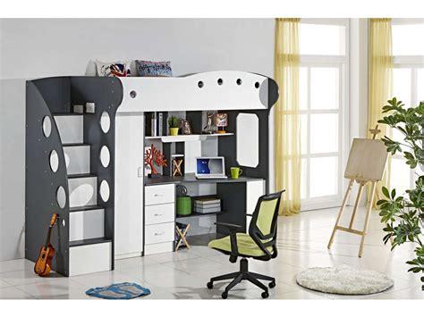 lit bureau conforama lit mezzanine 90x190 cm coloris blanc gris vente