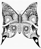 Butterfly Coloring Drawing Mandala Printable Printables Butterflies Animal Adult Drawings Adults Colouring Hard Clipart Abstract Simple Painting Sheet Related Animals sketch template