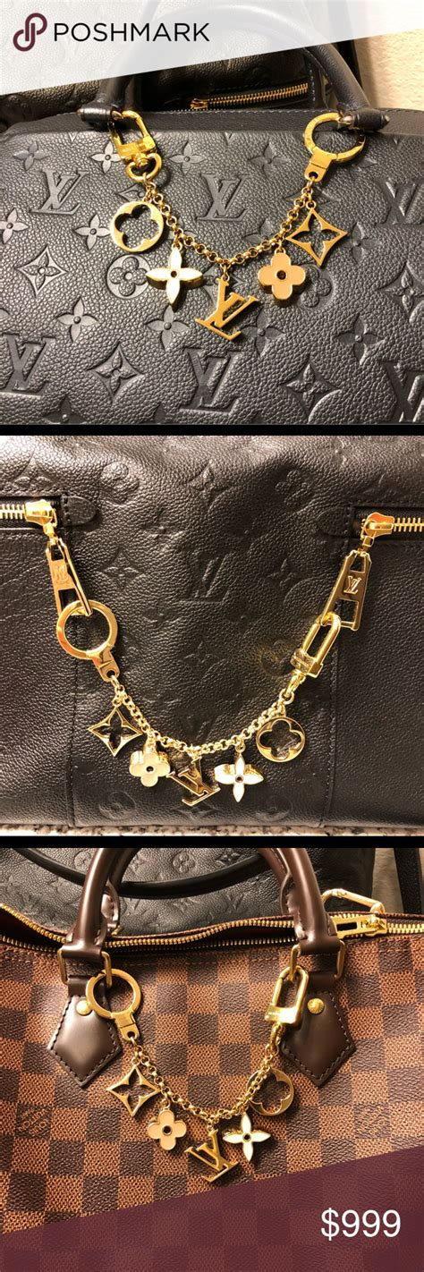 lv bag charm authentic louis vuitton fleur de monogram bag charm chain  popular gorgeous