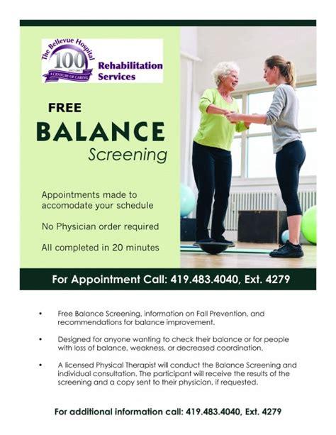 balance screenings  bellevue hospital