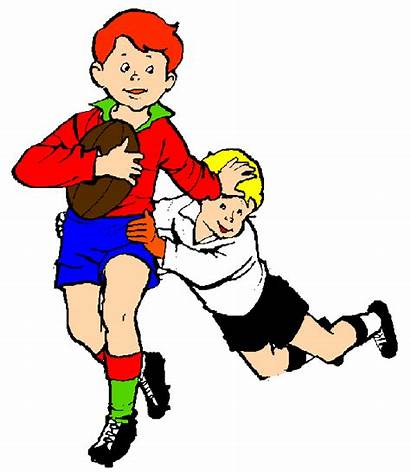 Rugby Clipart Clip Touch Cartoon Playing Ball