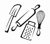 Cartoon Kitchen Drawing Spatula Cooking Rubber Getdrawings sketch template