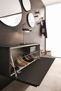 Meuble Chaussure Noir : meuble rangement chaussures bas ~ Teatrodelosmanantiales.com Idées de Décoration