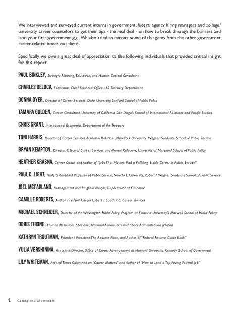 Federal Resume Guidebook by 100 Federal Resume Guide Targeted Resume Template