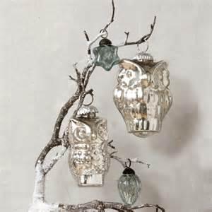 mercury glass owl ornament contemporary christmas ornaments by dwellstudio