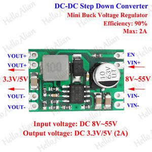 2a dc dc buck step converter power supply module 48v 36v 24v 12v to 3 3v 5v ebay