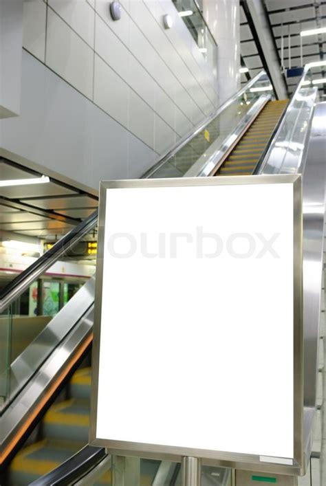 Drei Leere Plakatwand Auf Moderne Weiße Wand Stockfoto