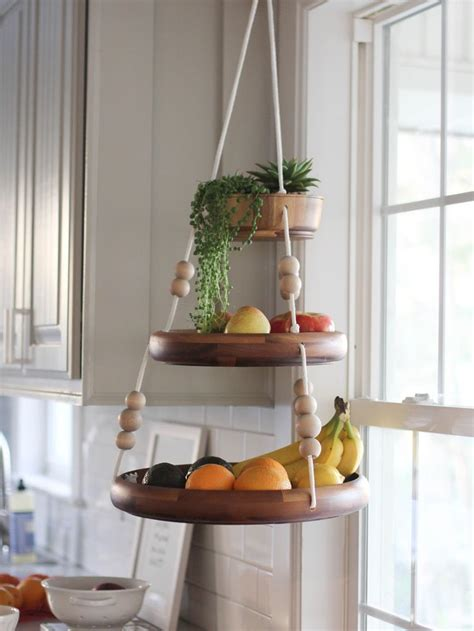 hanging baskets for kitchen best 25 hanging fruit baskets ideas only on