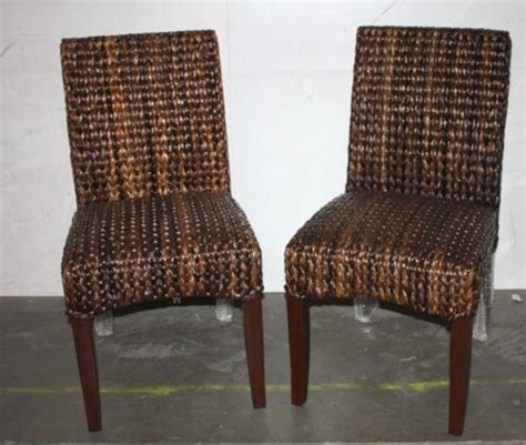 Pottery Barn Seagrass Club Chair by Pottery Barn Seagrass Side Chair Set Of Two
