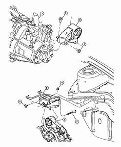 2010 Jeep Compass Support  Engine Mount  Manual
