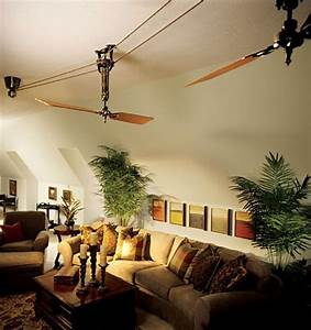 belt driven ceiling fan style creates old world With barn style ceiling fans