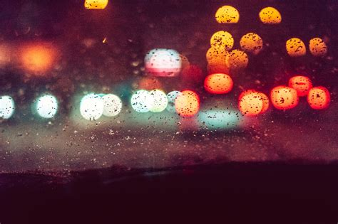 abstract night city traffic bokeh effect