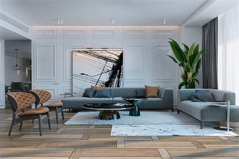 Spacious Modern Living Room Interiors by A Miami Apartment In Muted Tones
