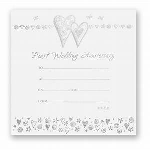 pearl wedding anniversary invitations pack of 10 With pack of 60 wedding invitations