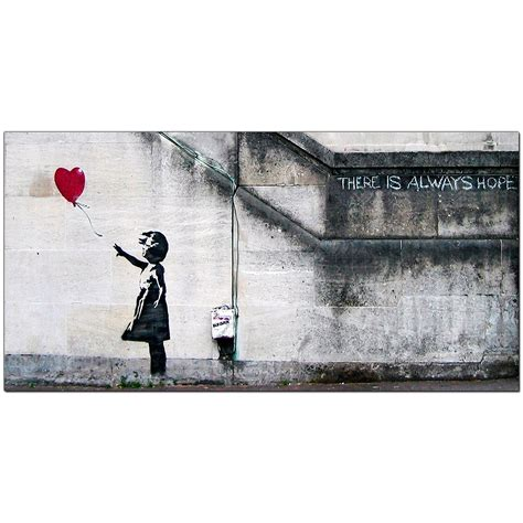 banksy large canvas prints girl with the red balloon for dining room