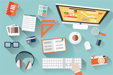 design a desk online the flat design web design trend 2015 gt freeeducation