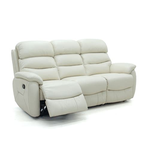 3 seater sofa with 2 recliner actions glasswells girona 3 seater electric recliner sofa