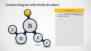 Creative Diagram With Circles  U0026 Letters For Powerpoint