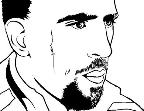 coloriage football franck ribery