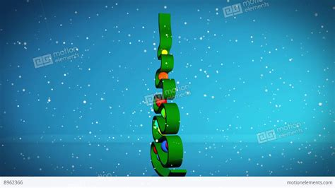 abstract christmas tree stock animation 8962366