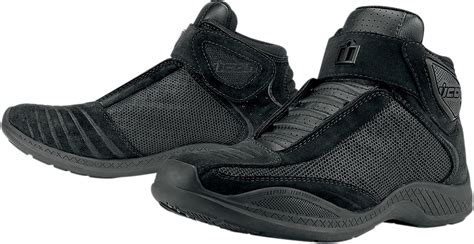 icon tarmac  motorcycle riding shoes black